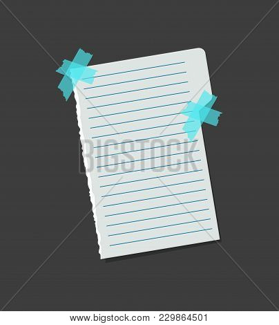 Realistic Blank Separate Note Color Paper With Color Sticky Adhesive Tape Concept Reminder Board Off