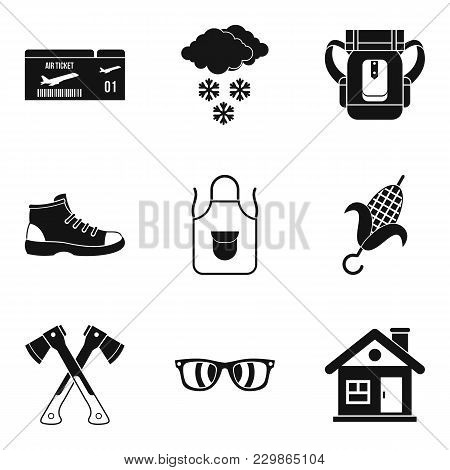 Unforgettable Vacation Icons Set. Simple Set Of 9 Unforgettable Vacation Vector Icons For Web Isolat