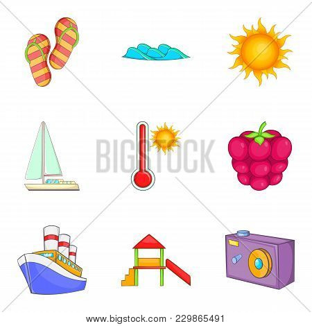 Voucher Icons Set. Cartoon Set Of 9 Voucher Vector Icons For Web Isolated On White Background