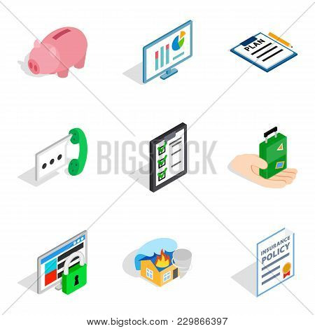 Technical Officer Icons Set. Isometric Set Of 9 Technical Officer Vector Icons For Web Isolated On W