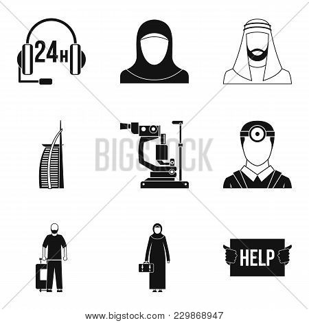World Personnel Icons Set. Simple Set Of 9 World Personnel Vector Icons For Web Isolated On White Ba