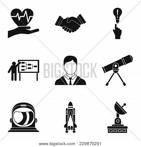 Oral National Creativity Icons Set. Simple Set Of 9 Oral National Creativity Vector Icons For Web Is