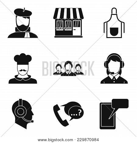 Local Worker Icons Set. Simple Set Of 9 Local Worker Vector Icons For Web Isolated On White Backgrou
