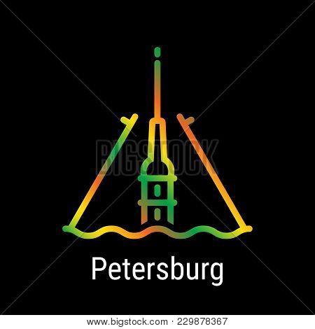 St. Petersburg, Russia Vector Line Icon