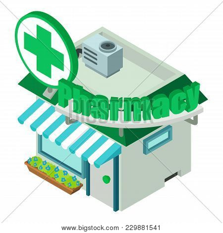 Pharmacy Icon. Isometric Illustration Of Pharmacy Vector Icon For Web