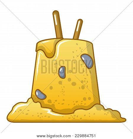 Ugly Sand Castle Icon. Cartoon Illustration Of Ugly Sand Castle Vector Icon For Web