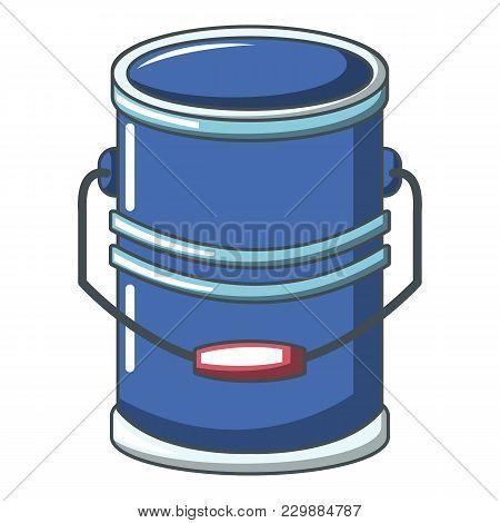 Cylinder Bucket Icon. Cartoon Illustration Of Cylinder Bucket Vector Icon For Web