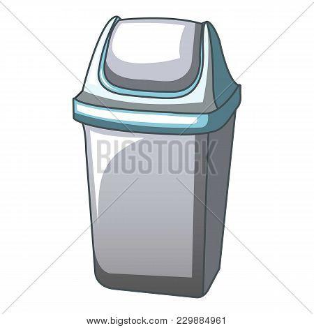 Trash Bin Bucket Icon. Cartoon Illustration Of Trash Bin Bucket Vector Icon For Web