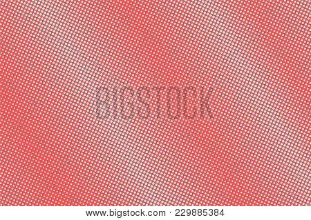 Blue And Red Dotted Halftone. Diagonal Smooth Dotted Gradient. Half Tone Vector Background. Abstract