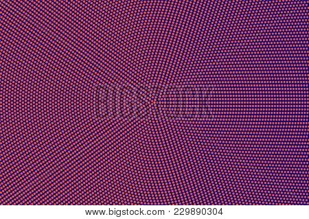 Blue Orange Dotted Halftone. Frequent Smooth Dotted Gradient. Half Tone Vector Background. Artificia