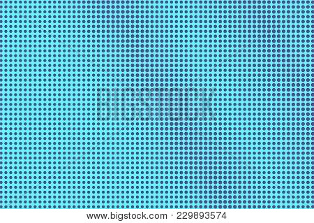 Blue Violet Dotted Halftone. Diagonal Regular Dotted Gradient. Half Tone Vector Background. Artifici