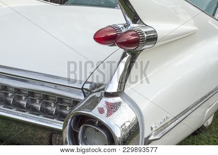 Brisbane, Australia - March 3, 2018: The 1959 Cadillac Eldorado Coupe Deville Is Remembered For Its