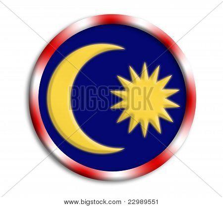 Malaysia button shield on white background