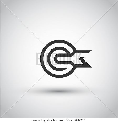 Target. Isolated Vector Icon, Sign, Emblem, Pictogram. Flat Style For Design, Web, Logo Or Ui. Eps10