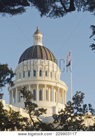 California State Capitol Building In Sacramento California