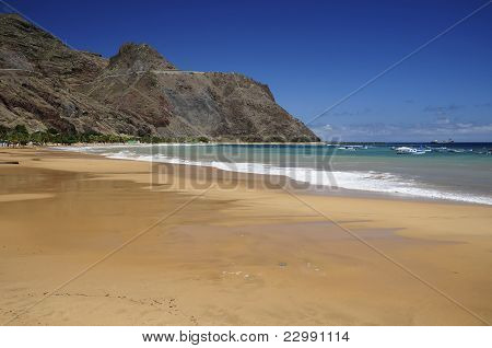 Teresitas Beach In Tenerife