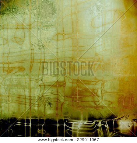 Aged background or texture. Vintage graphic composition with grunge style elements and different color patterns