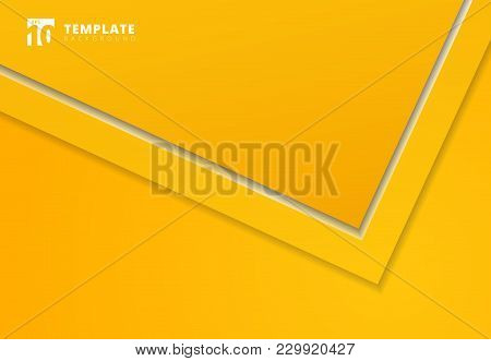 Triangle Arrow Corner Overlap Layer With Copy Space For Text Design, Yellow Background, Vector Illus