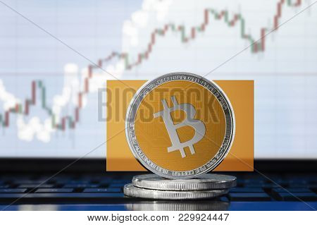 Bitcoin Cash (bch) Cryptocurrency; Physical Concept Bitcoin Cash On The Background Of The Chart