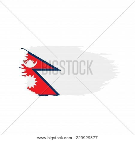 Nepal Flag, Vector Illustration On A White Background