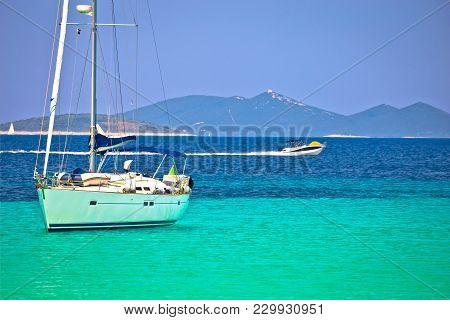 Dugi Otok Island Pahthera Bay Sailing And Yachting Destinaion, Archipelago Of Dalmatia, Croatia