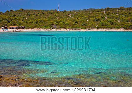 Idyllic Turquoise Beach Sakarun On Dugi Otok Island, Archipelago Of Dalmatia, Croatia