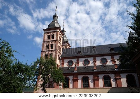 AMORBACH, GERMANY - JULY 08: Amorbach monastery church, was a Benedictine church located in the district of Miltenberg in Lower Franconia in Bavaria, Germany on July 08, 2017.