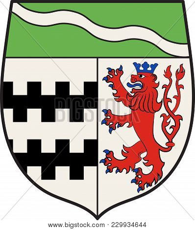 Coat Of Arms Of Rheinisch-bergische Kreis Is A District In The Cologne Bonn Region Of North Rhine-we