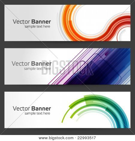 Abstract trendy vector banner or header set eps 10