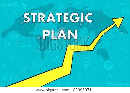 Strategic Plan To Achieve Profit In Business. The Arrow Moves Upwards