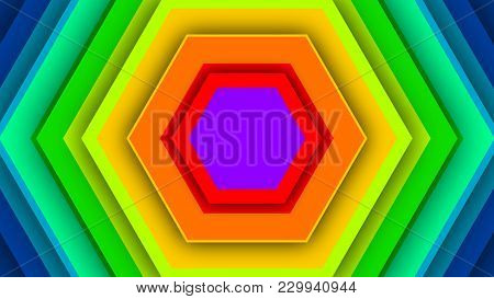 Colorful Backdrop From Rainbow Hexagons