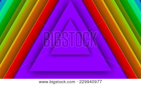 Multicolored Backdrop From Big Triangles