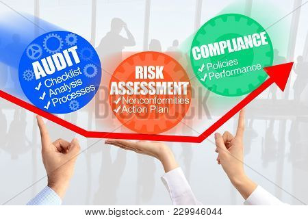 Internal Audit Process Management, Conceptual Imange With Unrecognisable Persons