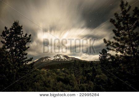 Mt. Shasta at night