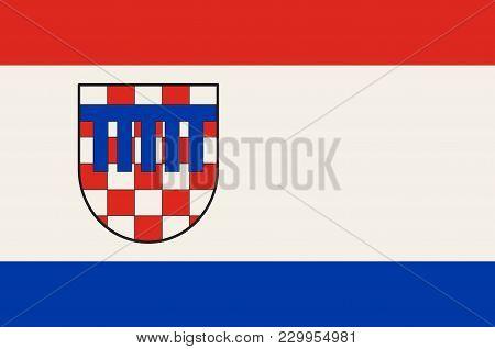 Flag Of Bad Honnef Is A Spa Town In Germany Near Bonn In The Rhein-sieg District, North Rhine-westph