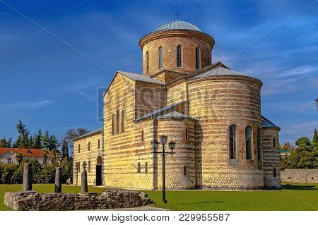 Pitsunda, Abkhazia - October 4, 2014: Temple Of The Apostle Andrew.