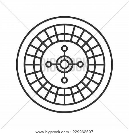 Roulette Linear Icon. Casino. Thin Line Illustration. Contour Symbol. Vector Isolated Outline Drawin