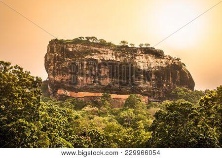 Sigiriya Rock or Lion Rock is an ancient fortress near Dambulla, Sri Lanka. Sigiriya is a UNESCO World Heritage Site.