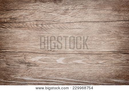 Old Bumpy Wood Texture. Warm Shade Of Brown Wooden Background