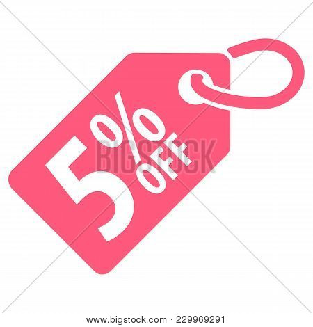 5 Percent Off Tag. Vector Illustration. Isolated On White