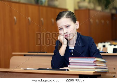 Education, Primary School, Girl Misses Class In Class