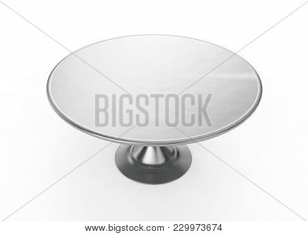 Restaurant Cloche On Plate Close. 3d Render Isolated On White