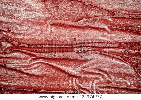 Red Bumpy Wall Stucco Texture Background, Crumpled Leather Imitation