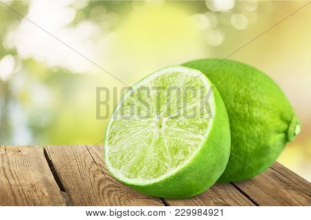 Fresh Slices Lime Healthy Lifestyle Low Calorie Organic Food Organic Product