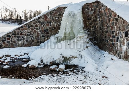 Source Latvia. Batas Source Frozen, Beautiful, Cold Winter Day