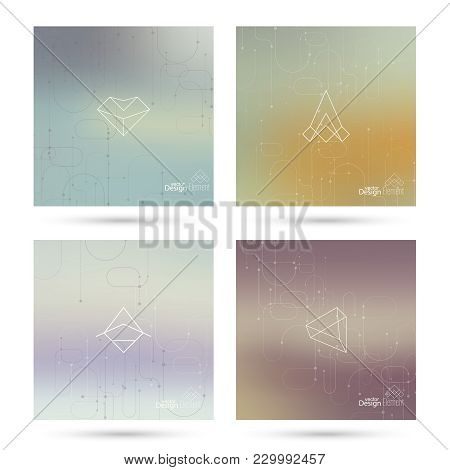 Trendy Abstract Background. Hipster Geometric Shape Elements. Modern Signs, Label Design. Retro Styl