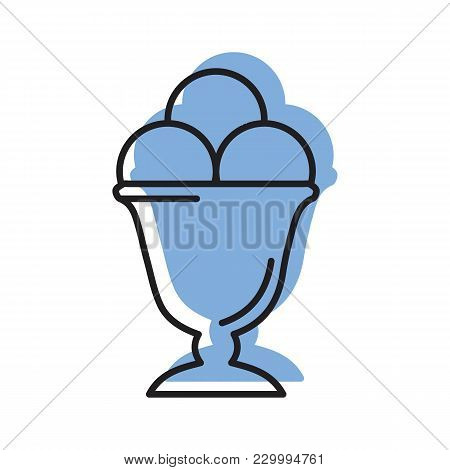 Ice Cream Icon. Doodle Illustration Of Ice Cream Vector Icon For Web And Advertising