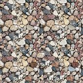 coloured gravel. High resolution seamless  texture of gravel poster