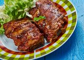 Slow Cooker Baby Back Ribs , Crockpot Barbecue Ribs poster