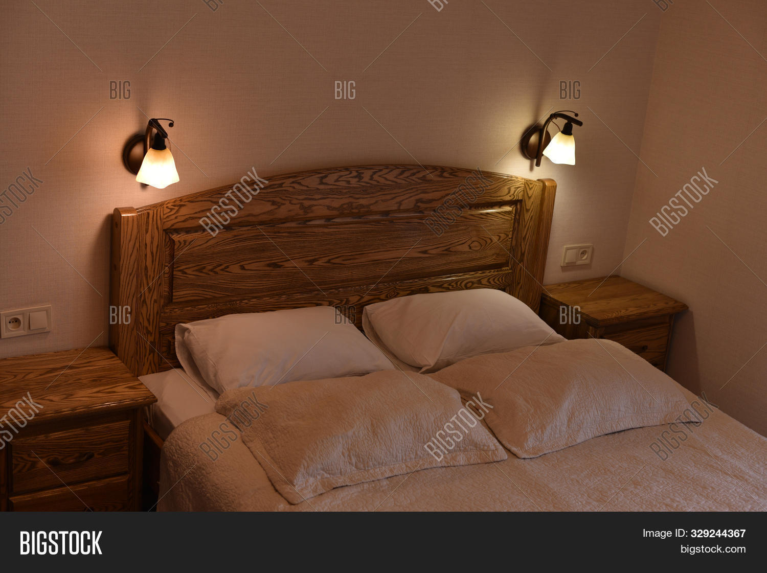 Bed Hotel Room Bed Image Photo Free Trial Bigstock